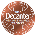 Bronze Decanter Asia Wine Award 2016 - Tilaria 2012